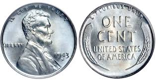 penny s 1943 s lincoln wheat cent steel cent steel composite penny value