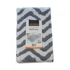 Grey Chevron Bath Rug 100 Cotton Bath Mat Grey Silver Rug Tonys Textiles