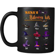 halloween hats personalized mugs u2013 cool t shirts for grandma