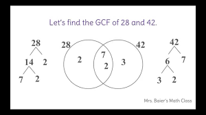 find the greatest common factor using a venn diagram youtube