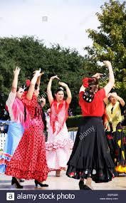 flamenco dancers texas state fair dallas texas usa stock photo