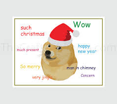 Doge Meme Christmas - doge printable christmas card