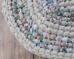 Crochet Oval Rag Rug Pattern Shabby Chic Rag Rug Etsy