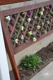 diy vertical flower bed the idea room