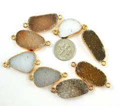 necklace pendant wholesale images Wholesale druzy gemstone speckled ginger agate oval bar gold jpeg