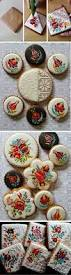 chef effortlessly decorates cookies with intricate embroidery