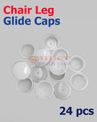 Wrought Iron Chair Leg Caps by New 24 Pieces White Plastic Round Cup Insert Glide End Cup For