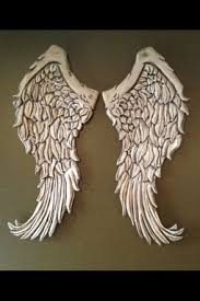 Wings Wall Decor Handmade Angel Wings Wall Decor Wood Carving By Nevermore