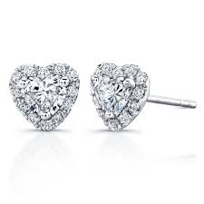 heart shaped diamond earrings 37 best earrings i want for new piercing images on