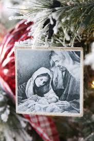diy nativity ornament gift