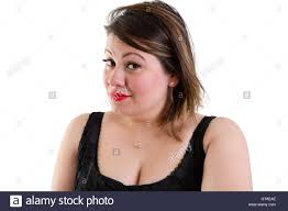 hair i woman s chin sideways sceptical woman with raised eyebrows looking sideways at the