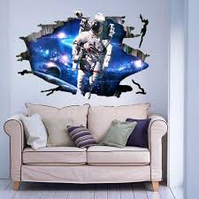 3d wall stickers roselawnlutheran 3d wall stickers wallpaper space astronauts decor kids room decal art gifts alex nld