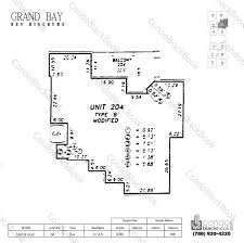 Floor Plan Key Grand Bay Residences Unit 304 Condo For Rent In Key Biscayne