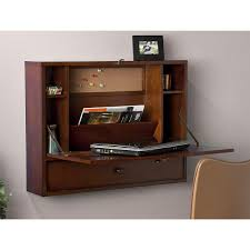 furniture fancy image of cherry wood wall mounted computer desk