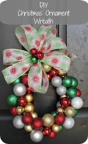 diy christmas ornament wreath the denver housewife