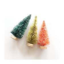 fancy pants designs merry and bright 4 inch bottle brush trees