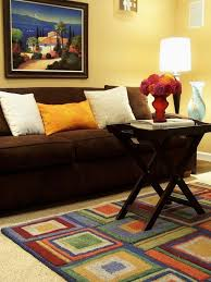 Colorful Living Room Rugs 73 Best Brown Sofa Images On Pinterest Living Room Ideas Living