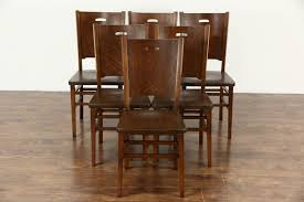 dining chairs chic mission style oak dining table vintage mid
