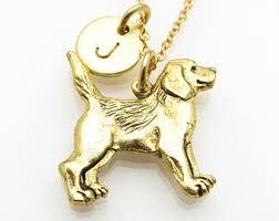 gold dog pendant necklace images Dog charm necklace etsy jpg