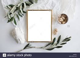 Home Decor Nj by Golden Frame Mock Up On White Tabletop Background Home Decor