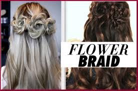 half braided half down hairstyle for prom beautiful half down half