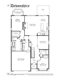 Floor Layout The Devonshire A Custom Floor Plan By Worthington Homes