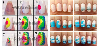 20 easy step by step summer nail art tutorials for beginners 2016