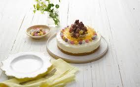 easter cheesecake white chocolate mini egg nest