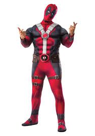 Halloween Costumes Size Size Deluxe Deadpool Movie Costume