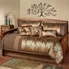 Daybed Comforter Set Urban Leaves 4 Pc Daybed Bedding Set