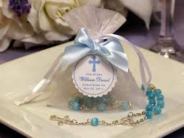 christening favor ideas baptism christening mini rosary in organza bag favors 2 99 via