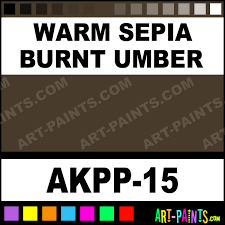 warm sepia burnt umber opaque watercolor paints akpp 15 warm