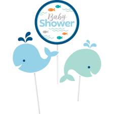 whale baby shower whale baby shower decorative sticks 3 ct