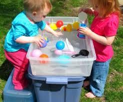 Toddler Water Table Fun In The Sun Summertime Activities For Preschoolers It U0027s Baby