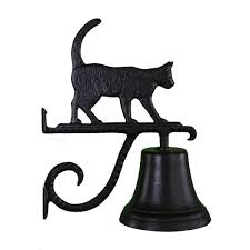 montague metal products cast bell with black cat ornament cb 1 81