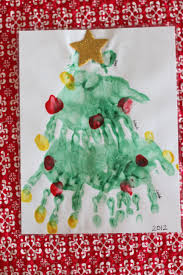 handprint and paw print christmas tree i can teach my child