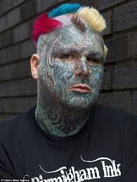 britain s most tattooed mathew whelan has 3d branding on his