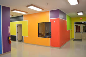 church daycare decorating ideas with primary colors church