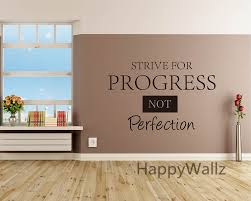 Quote For Laminate Flooring Aliexpress Com Buy Strive For Progress Not Perfection