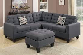 Blue Sectional With Chaise Amazon Com Poundex F6935 Bobkona Norton Linen Like 4 Piece