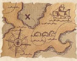 treasure map pirate treasure map etsy