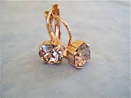 gold back earrings gold lever back earrings vintage the