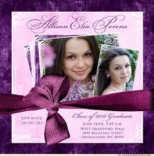 lovely photo graduation invitation 2018 personalized event