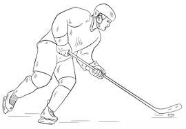 hockey player coloring free printable coloring pages