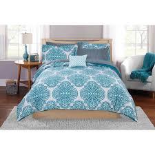 mainstays painted leaf bed in a bag bedding set walmart com