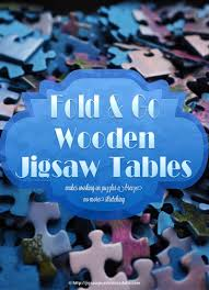 Jigsaw Puzzles Tables Fold Go Wooden Jigsaw Table Makes Working On Puzzles A Breeze
