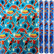 comic wrapping paper 3x5m marvel comics birthday present wrapping foil paper
