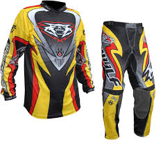 motocross jerseys wulf attack motocross jersey u0026 pants yellow kit new