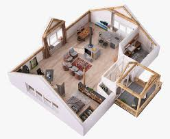 Villa Rustica Floor Plan by 4 Stylish Homes With Slanted Ceilings