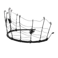 halloween spider web with spiders crown claire u0027s costumes